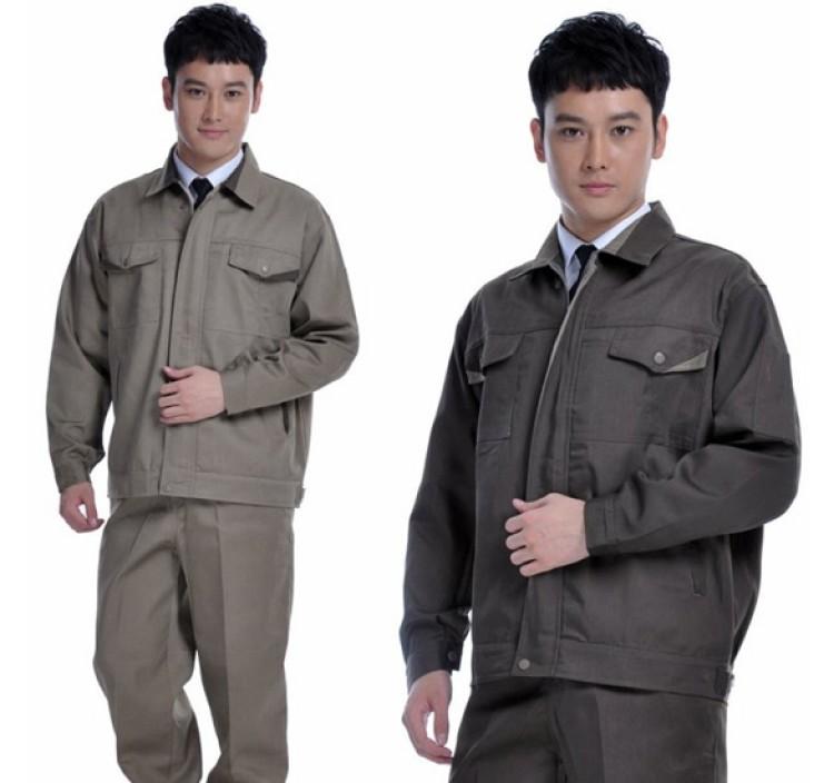 Quần áo bảo  hộ lao động màu xám