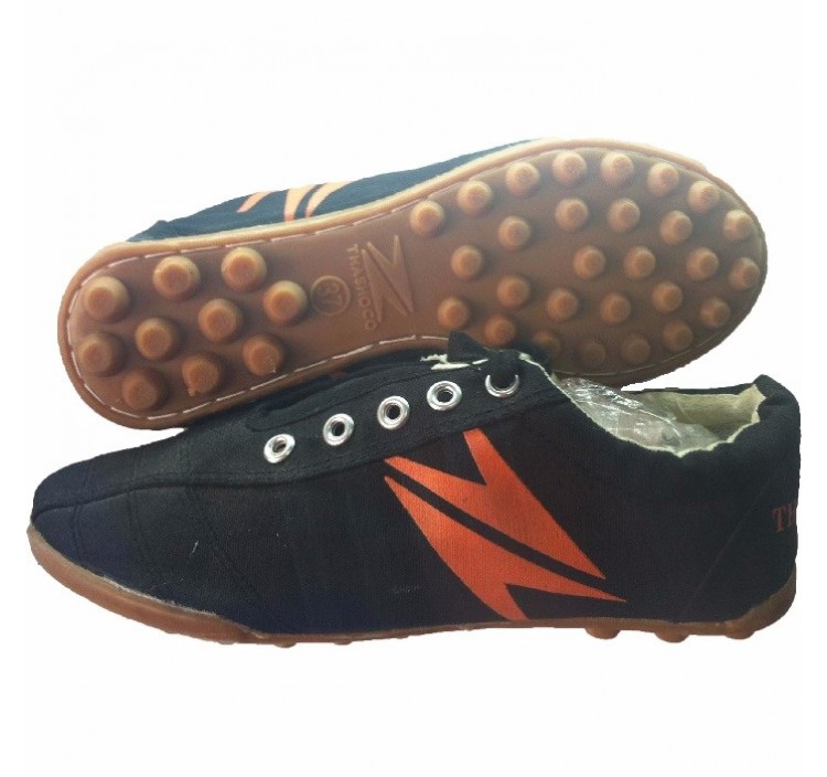Giày bóng đá sân cỏ nhân tạo Thăng Long vải (đen)