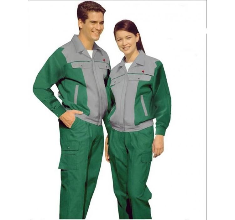 Quần áo bảo hộ lao động phối màu ghi